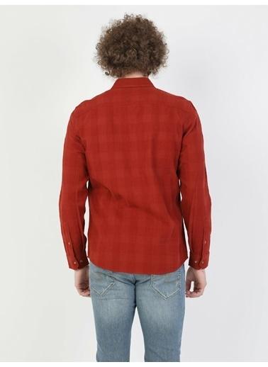 Colin's Turuncu Erkek Gömlek U.Kol Oranj